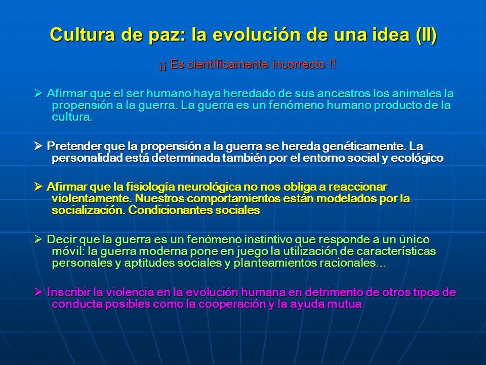 Cultura de paz: la evolución de una idea (II)