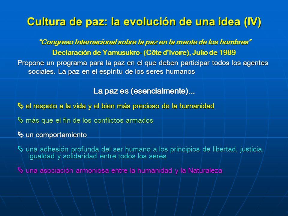 Cultura de paz: la evolución de una idea (IV)