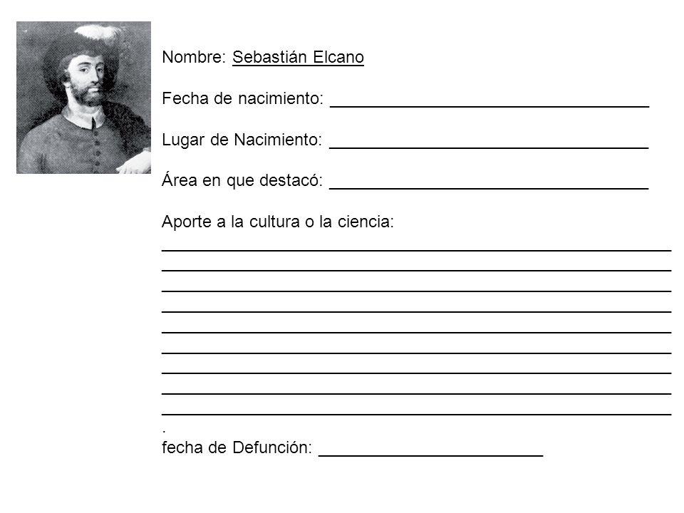 Nombre: Sebastián Elcano