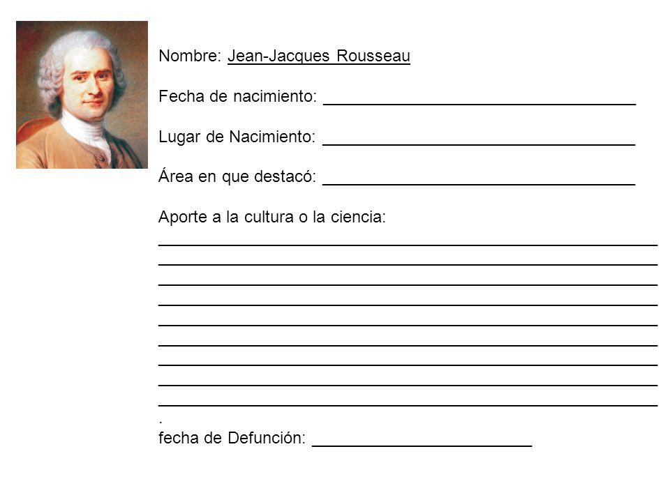 Nombre: Jean-Jacques Rousseau