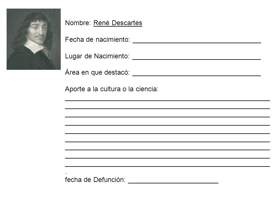Nombre: René Descartes