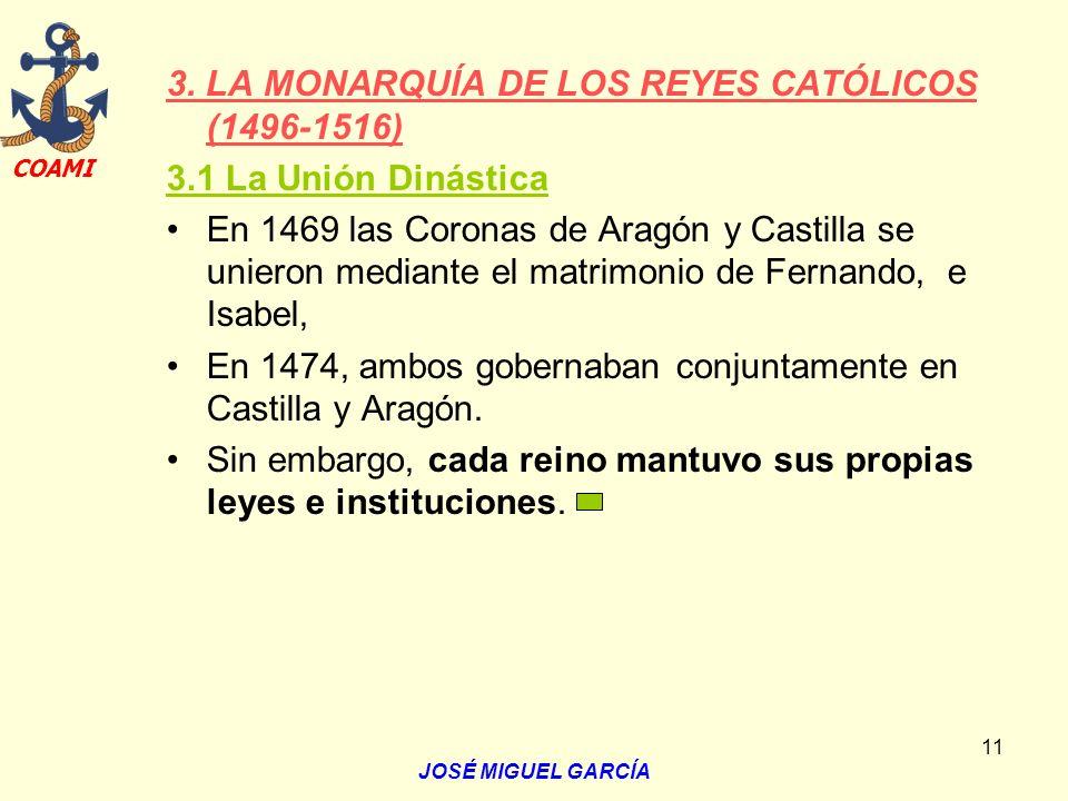 3. LA MONARQUÍA DE LOS REYES CATÓLICOS (1496-1516)