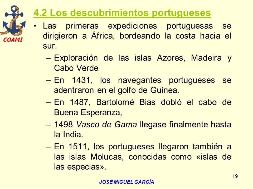 4.2 Los descubrimientos portugueses
