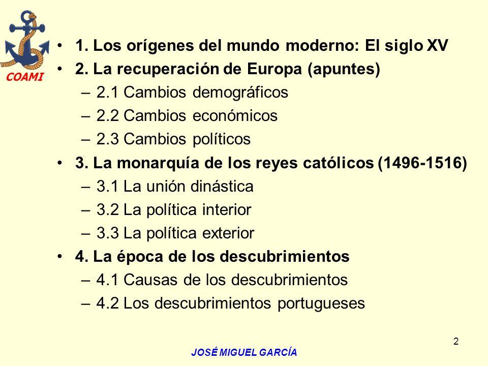 1. Los orígenes del mundo moderno: El siglo XV