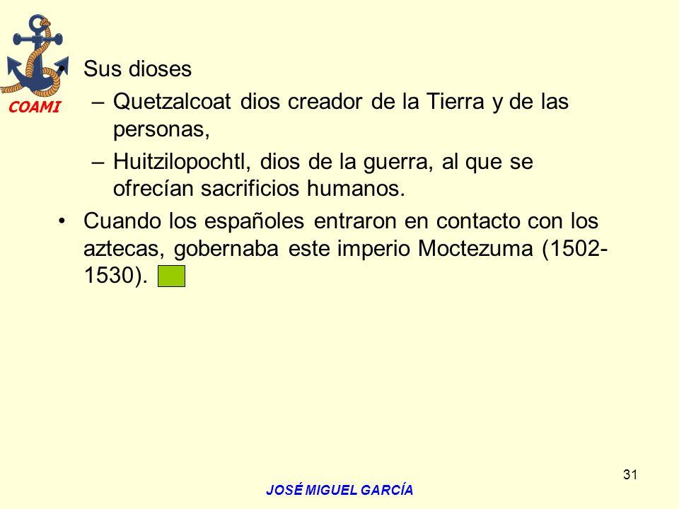 Quetzalcoat dios creador de la Tierra y de las personas,
