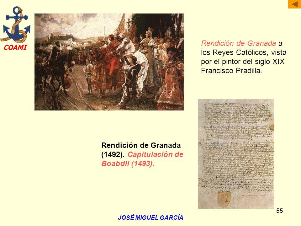 Rendición de Granada (1492). Capitulación de Boabdil (1493).