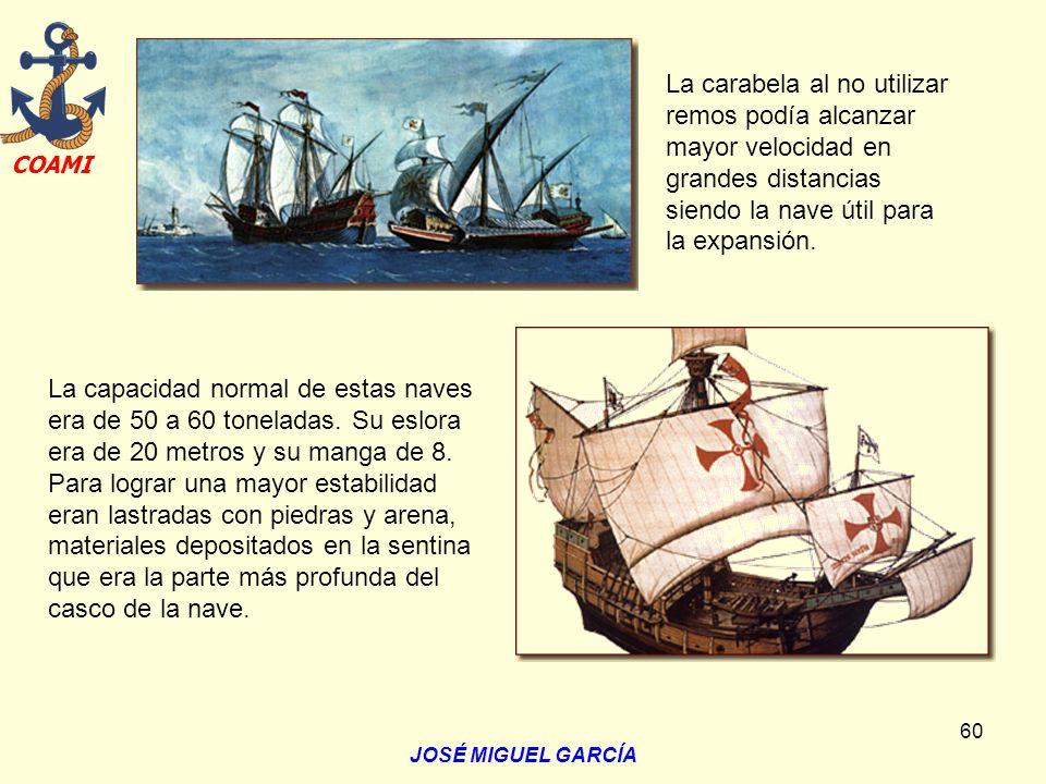 La carabela al no utilizar remos podía alcanzar mayor velocidad en grandes distancias siendo la nave útil para la expansión.