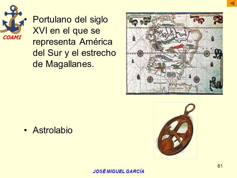 Portulano del siglo XVI en el que se representa América del Sur y el estrecho de Magallanes.