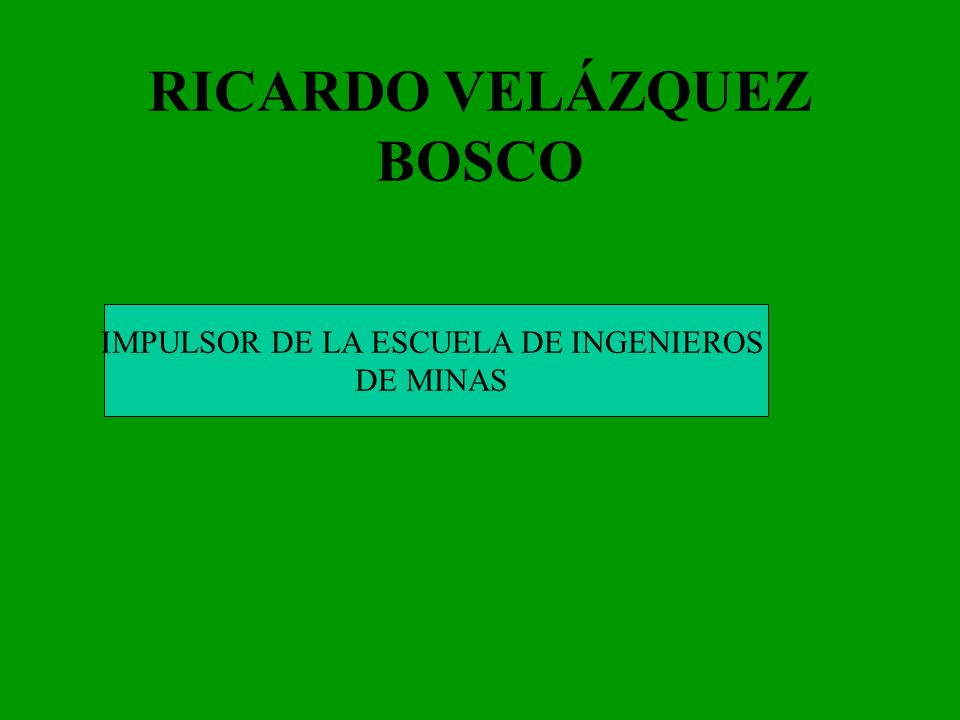 RICARDO VELÁZQUEZ BOSCO