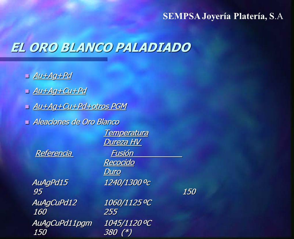 EL ORO BLANCO PALADIADO