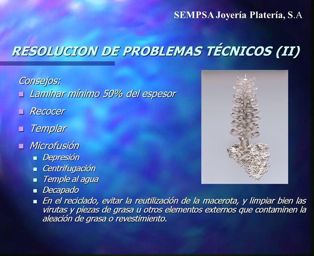 RESOLUCION DE PROBLEMAS TÉCNICOS (II)