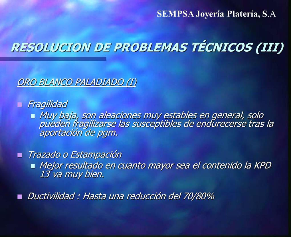 RESOLUCION DE PROBLEMAS TÉCNICOS (III)