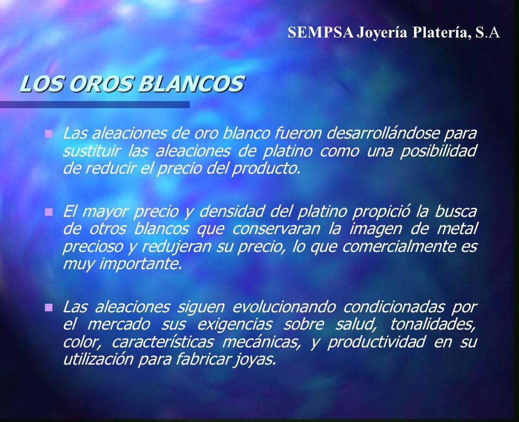 LOS OROS BLANCOS SEMPSA Joyería Platería, S.A