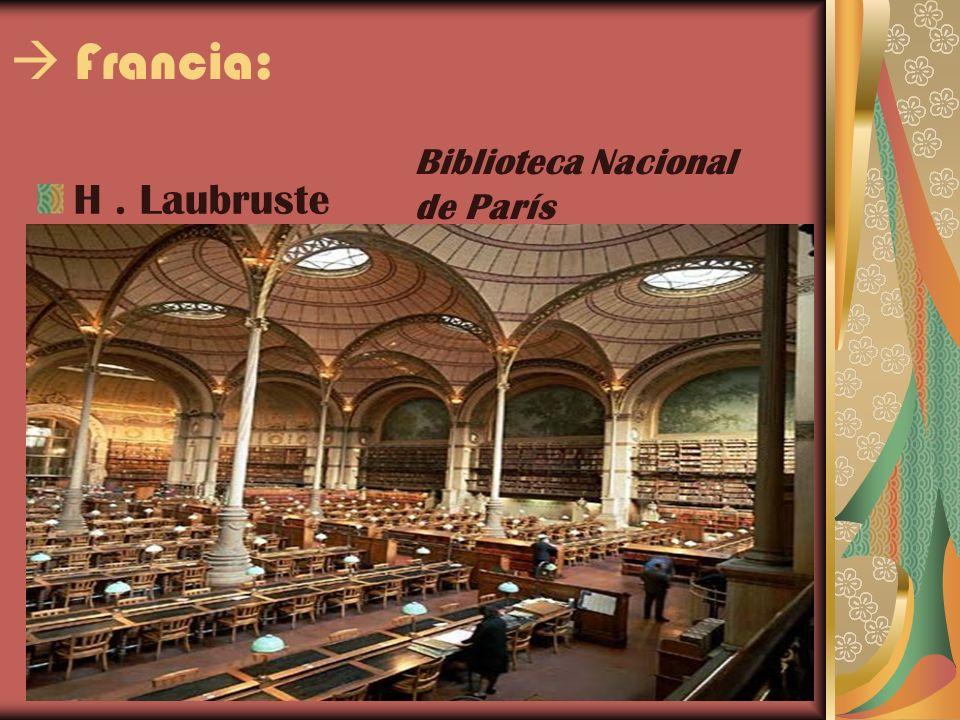  Francia: Biblioteca Nacional de París H . Laubruste