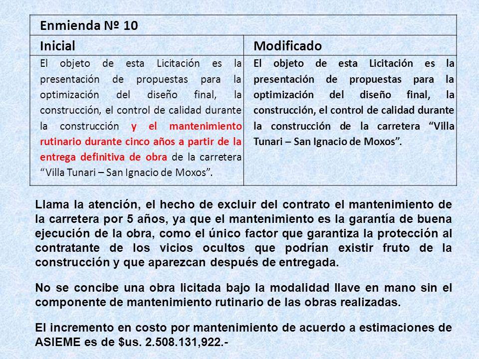 Enmienda Nº 10 Inicial Modificado