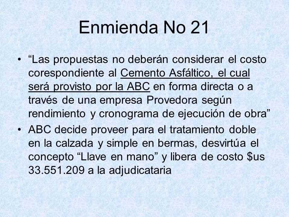 Enmienda No 21