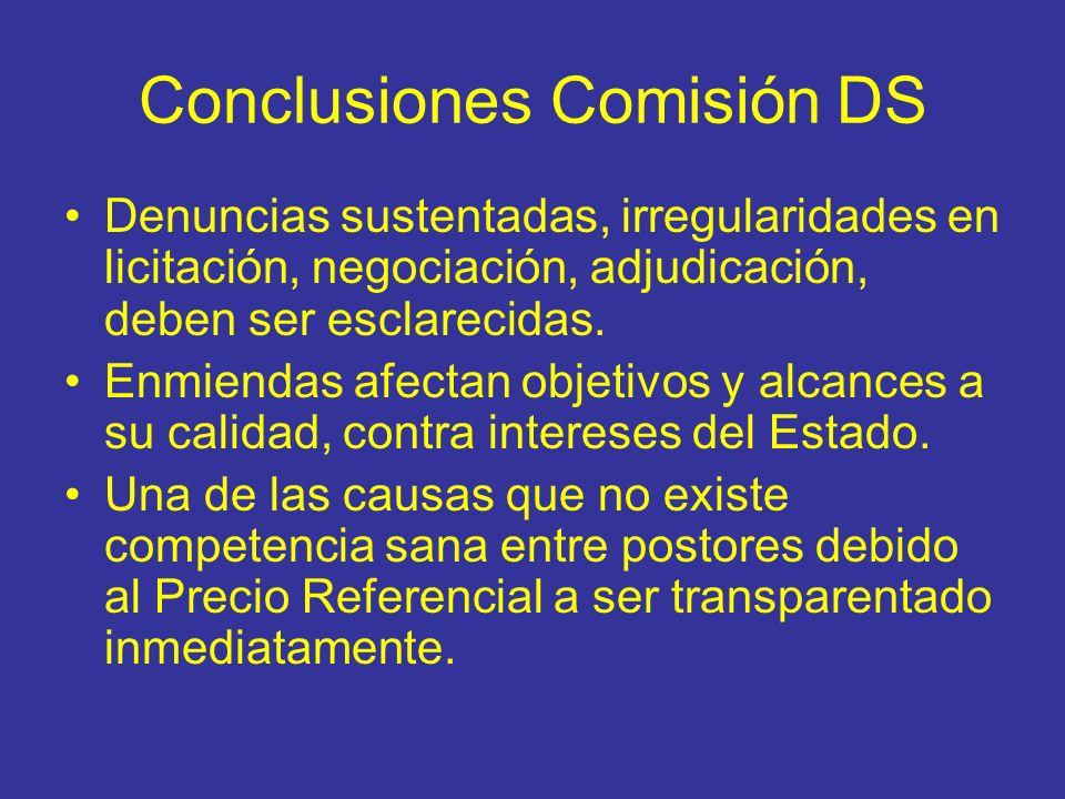 Conclusiones Comisión DS