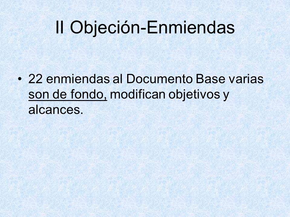 II Objeción-Enmiendas