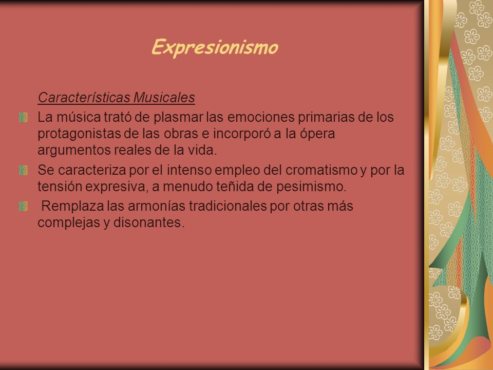 Expresionismo Características Musicales