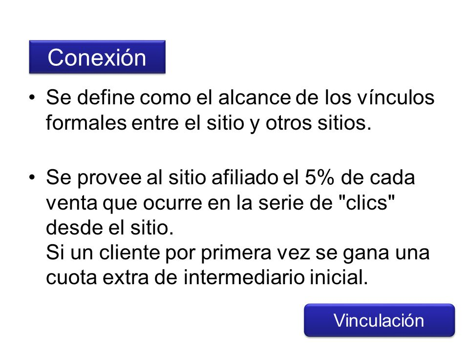 ConexiónSe define como el alcance de los vínculos formales entre el sitio y otros sitios.