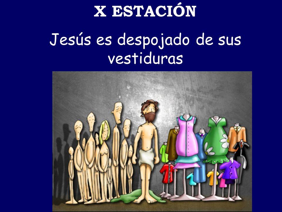 Jesús es despojado de sus vestiduras
