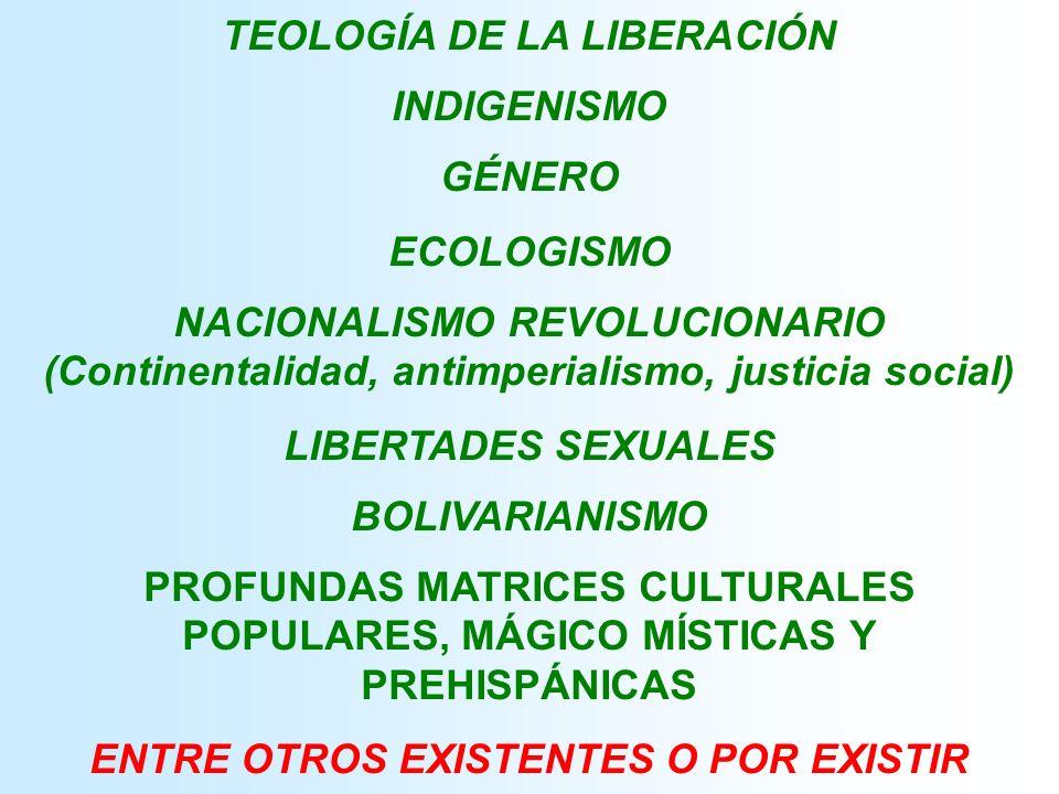 TEOLOGÍA DE LA LIBERACIÓN INDIGENISMO GÉNERO ECOLOGISMO