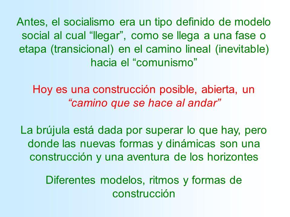 Diferentes modelos, ritmos y formas de construcción