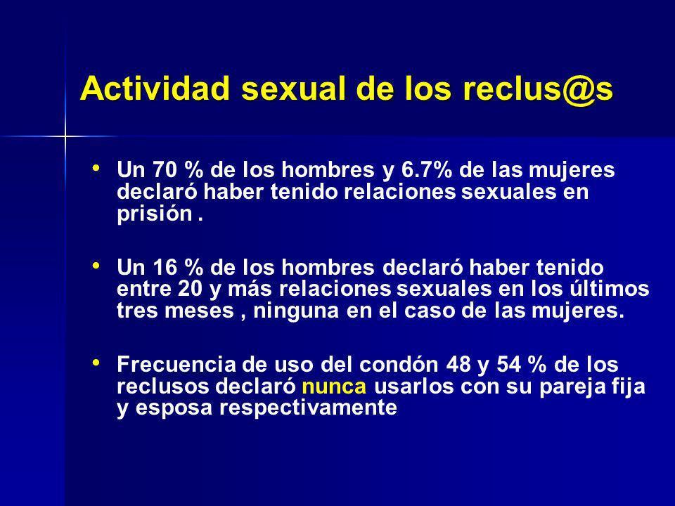 Actividad sexual de los reclus@s