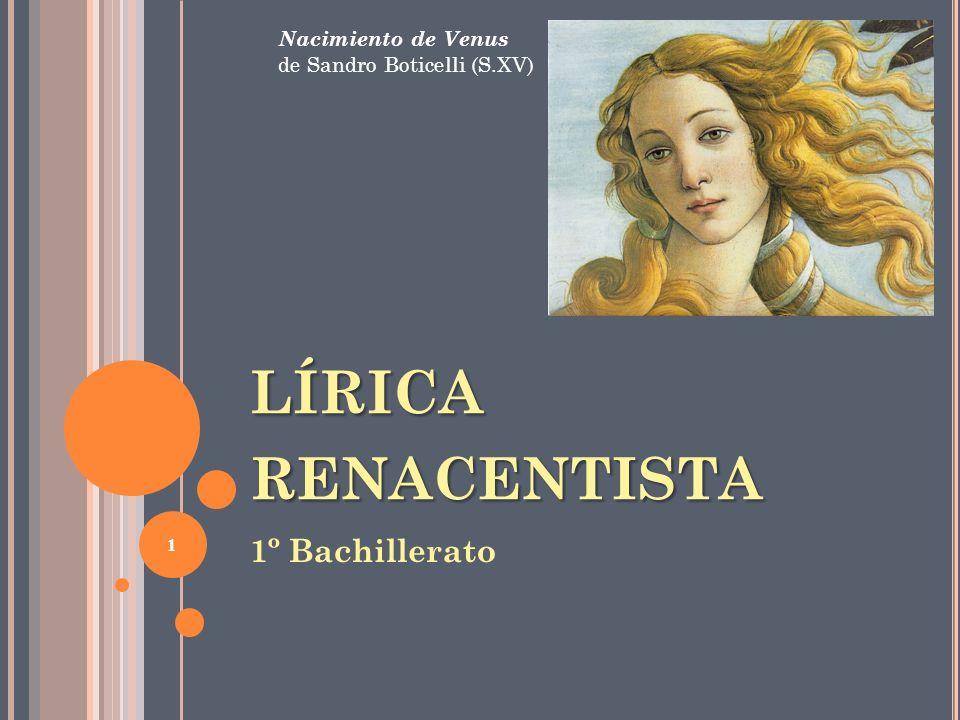 LÍRICA renacentista 1º Bachillerato