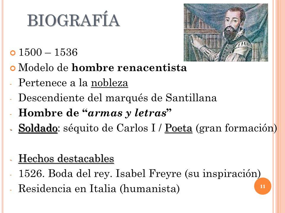 BIOGRAFÍA 1500 – 1536 Modelo de hombre renacentista