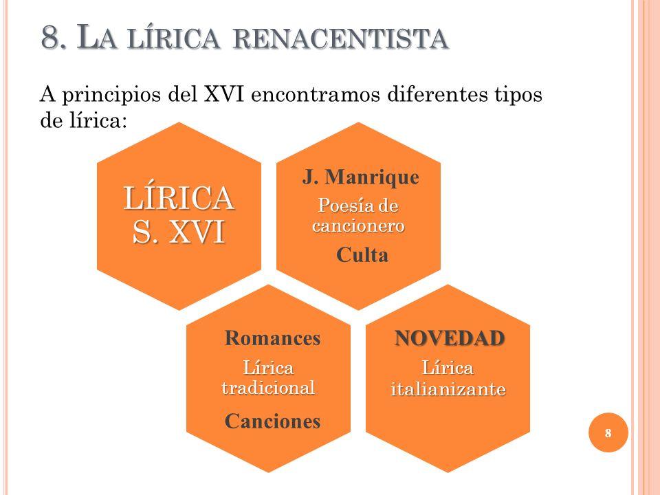 8. La lírica renacentista