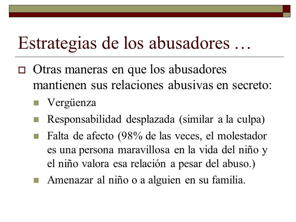 Estrategias de los abusadores …