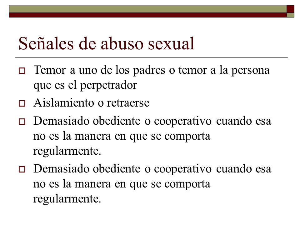 Señales de abuso sexual