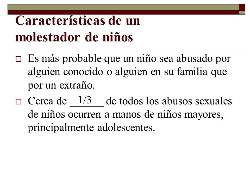 Características de un molestador de niños