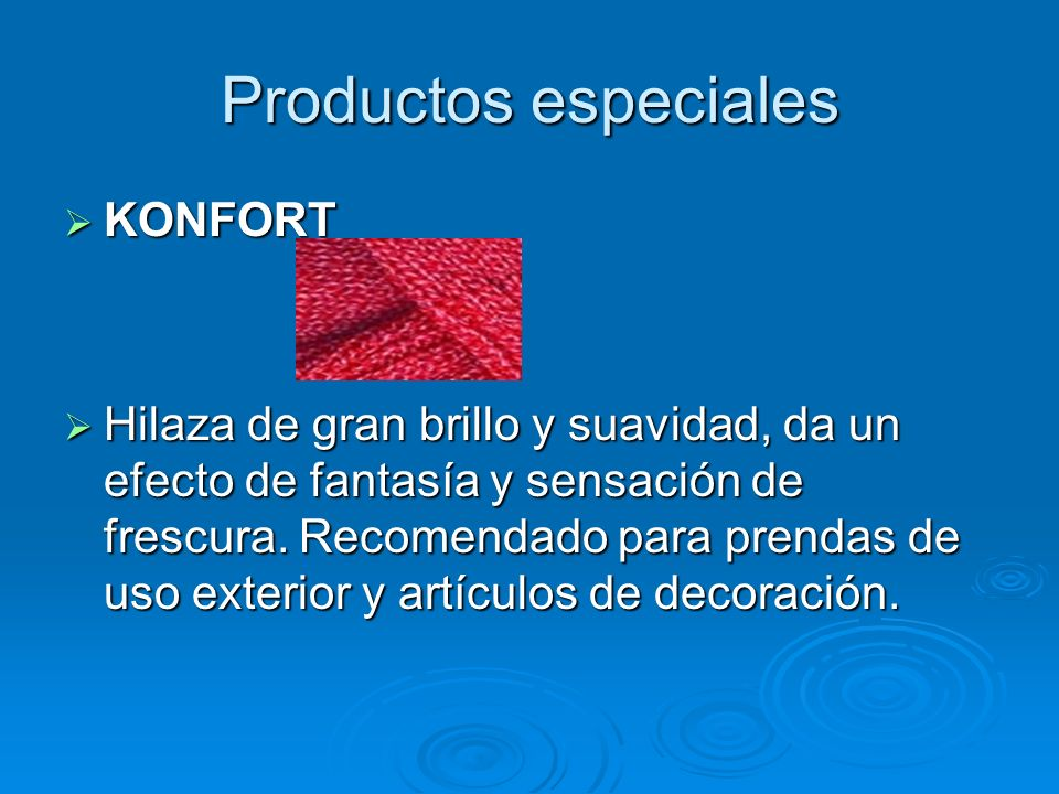 Productos especiales KONFORT