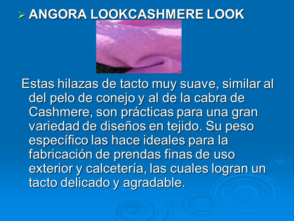 ANGORA LOOKCASHMERE LOOK