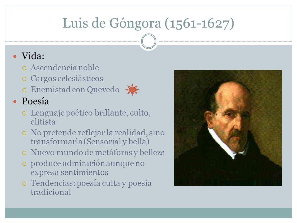 Luis de Góngora (1561-1627) Vida: Poesía Ascendencia noble