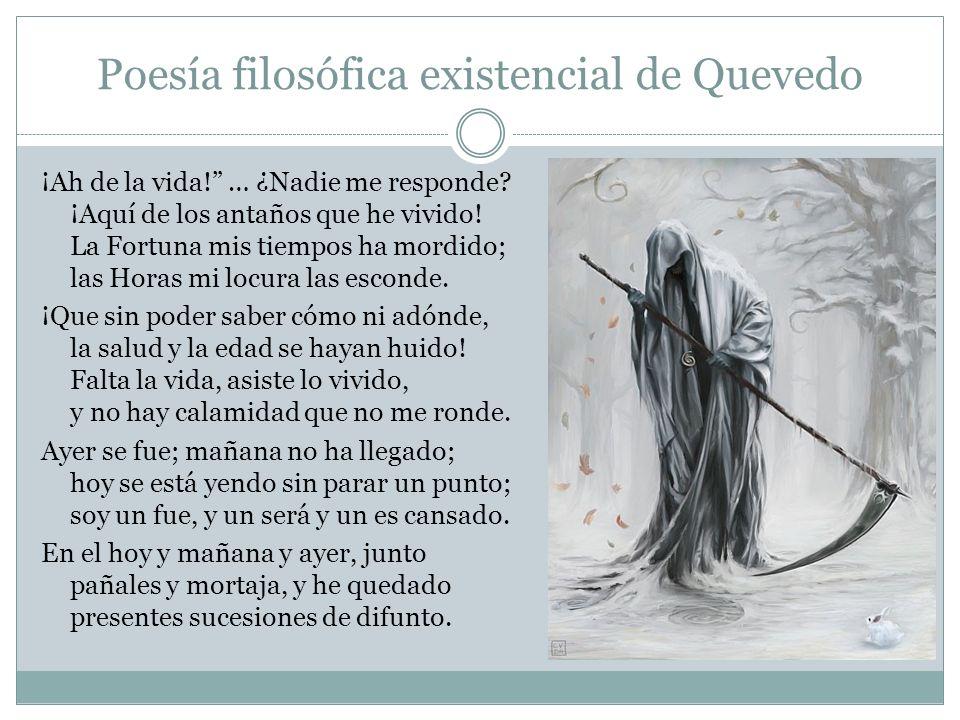Poesía filosófica existencial de Quevedo