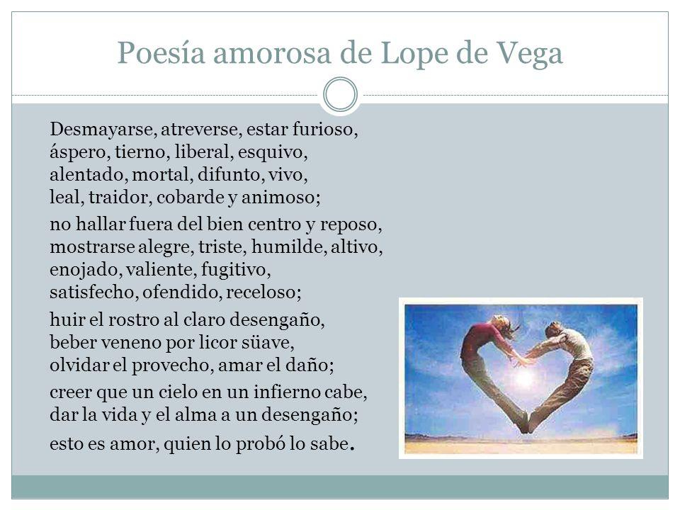 Poesía amorosa de Lope de Vega