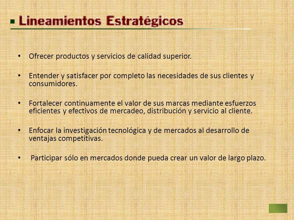 Ofrecer productos y servicios de calidad superior.