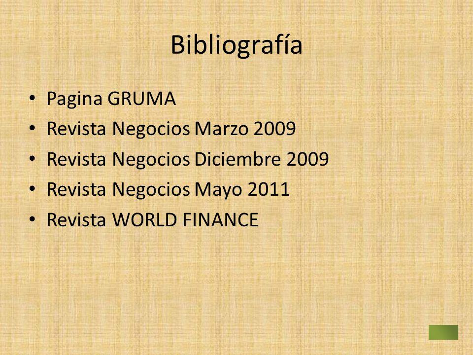 Bibliografía Pagina GRUMA Revista Negocios Marzo 2009