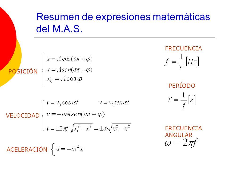 Resumen de expresiones matemáticas del M.A.S.