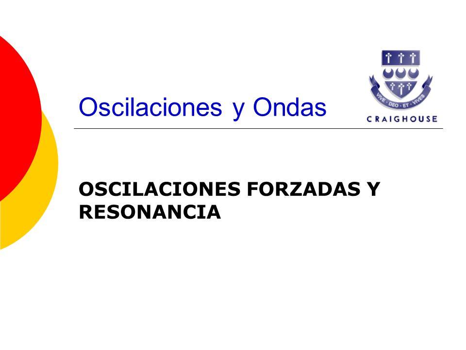 OSCILACIONES FORZADAS Y RESONANCIA