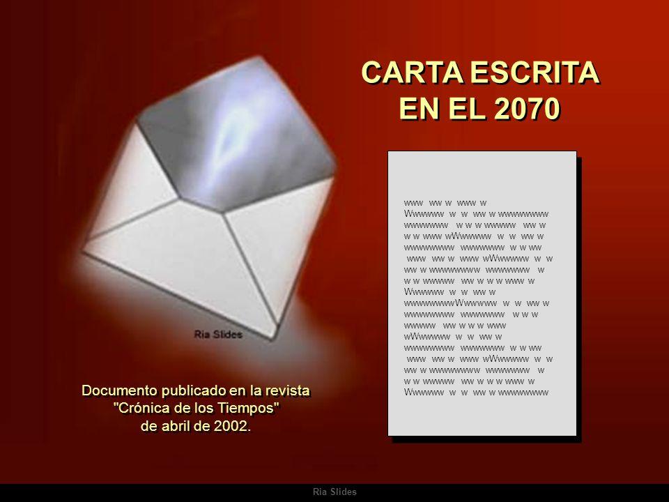 CARTA ESCRITA EN EL 2070 www ww w www w.