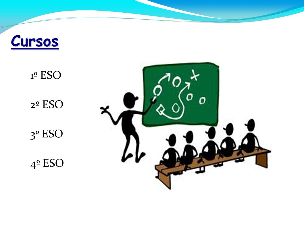 Cursos - 1º ESO - 2º ESO - 3º ESO - 4º ESO 6