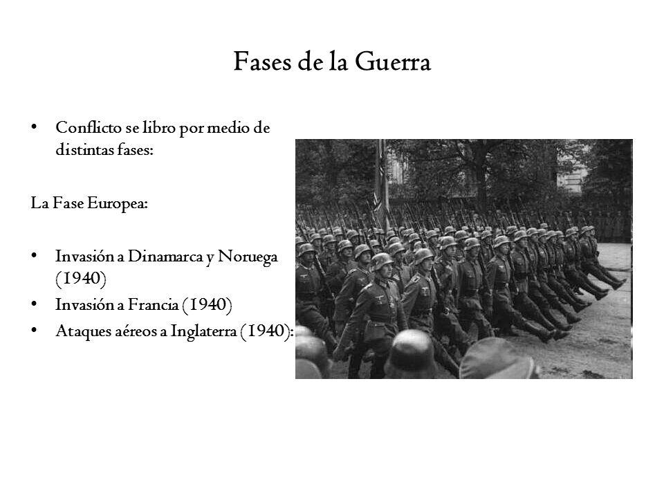 Fases de la Guerra Conflicto se libro por medio de distintas fases: