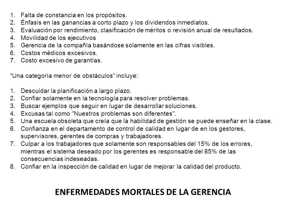 ENFERMEDADES MORTALES DE LA GERENCIA