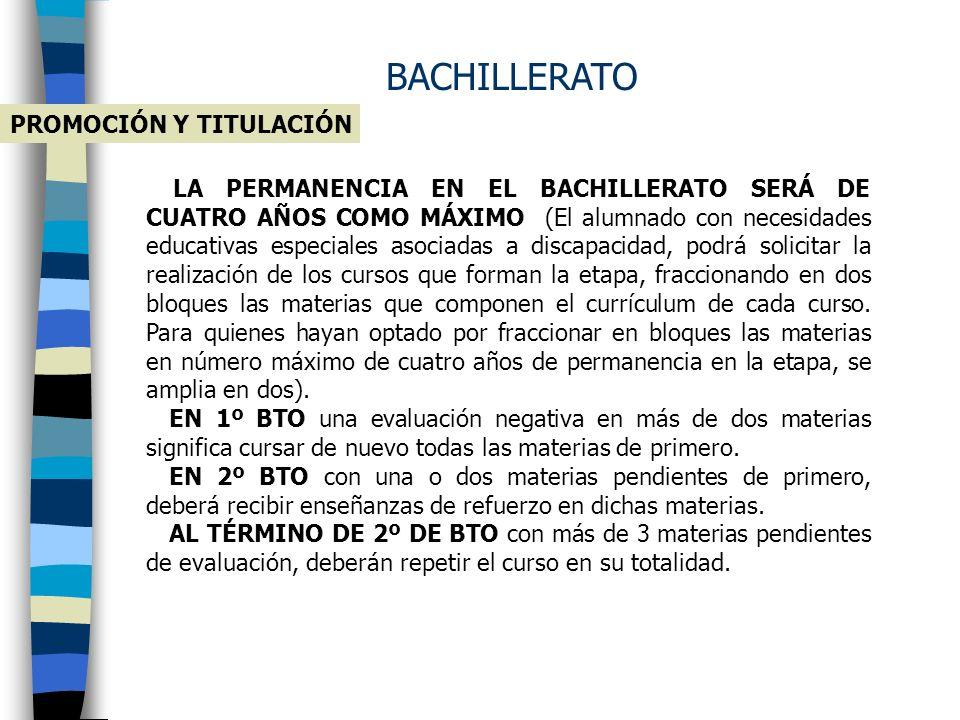 BACHILLERATO PROMOCIÓN Y TITULACIÓN