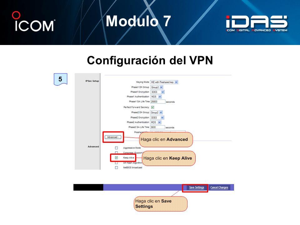 Modulo 7 Configuración del VPN