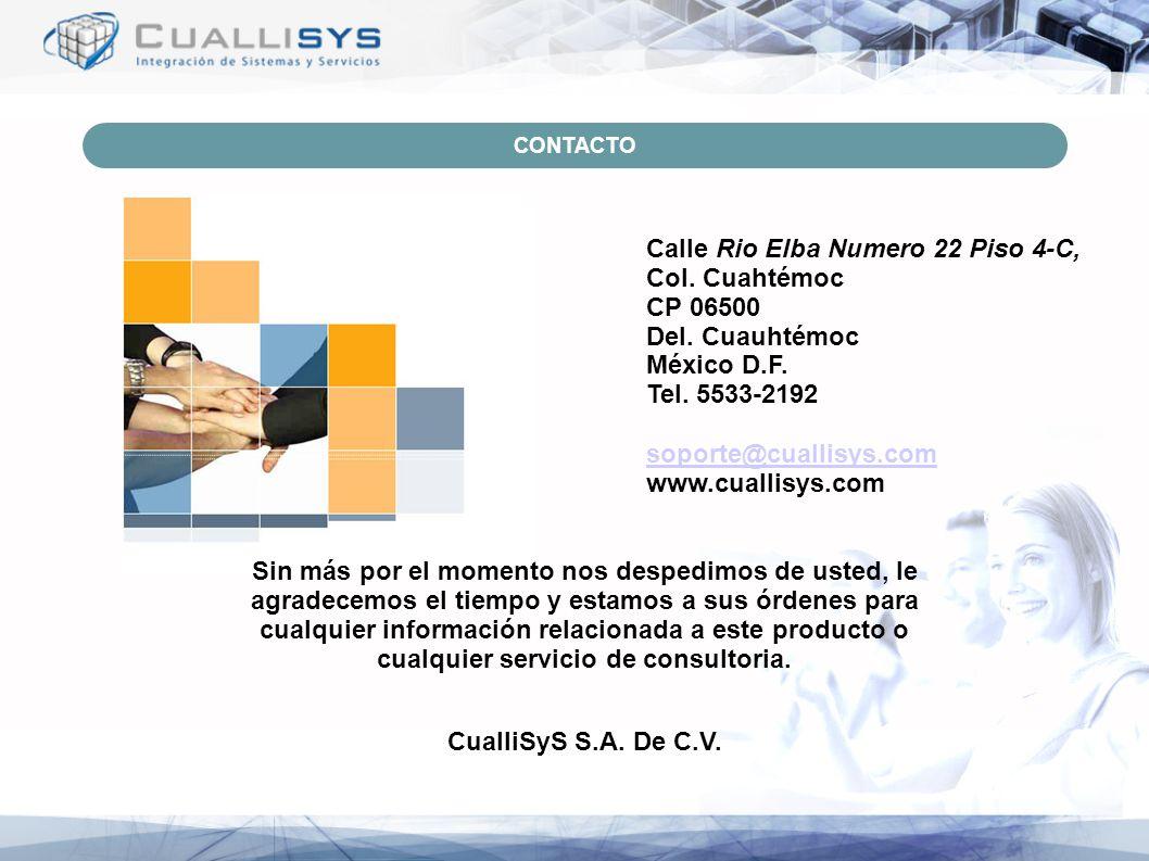 Calle Rio Elba Numero 22 Piso 4-C, Col. Cuahtémoc CP 06500